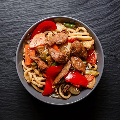 Утка с овощами