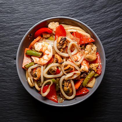 Морской mix с овощами